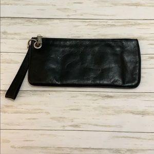 HOBO Black Vida Leather Clutch/Wristlet